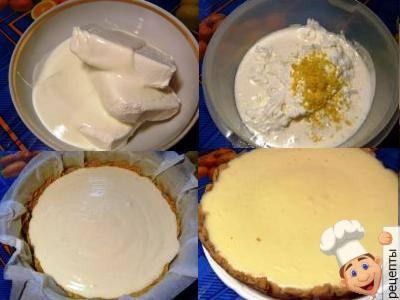 чизкейк из печенья и творога в духовке