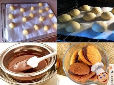 домашнее песочное печенье с шоколадом