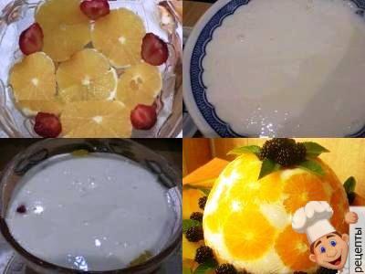 домашнее желе из йогурта с фруктами