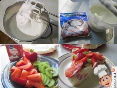 домашний торт безе с ягодами