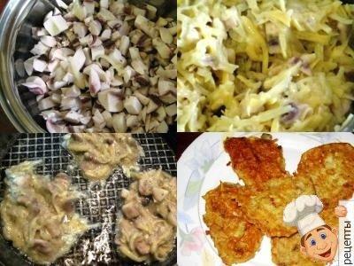 драники из картошки с грибами