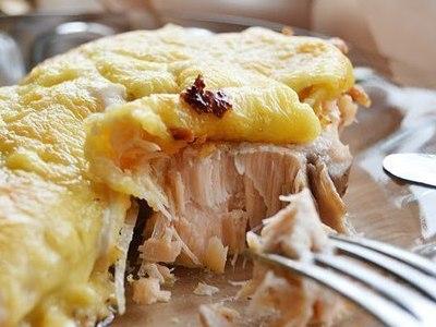 горбуша, запеченная в духовке с сыром