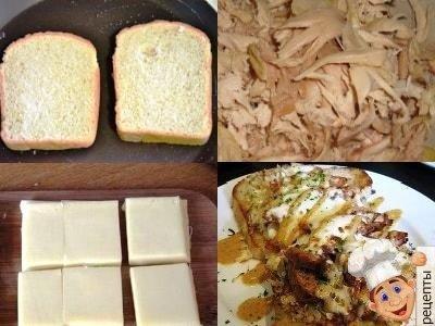 бутерброд с курицей и сыром