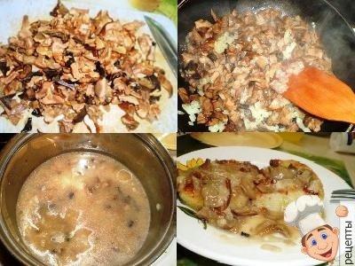 грибной соус к картофельным котлетам