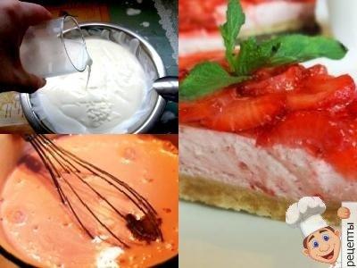 йогурт желатин торт, йогуртовый десерт