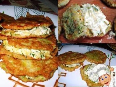 оладьи из кабачков с сыром и укропом