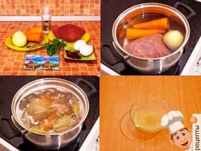 как делать заливное из мяса с желатином