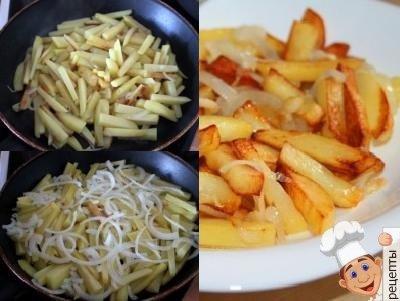 как пожарить картошку с луком
