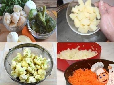как приготовить овощной суп пюре диетический