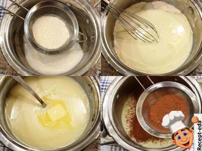 как приготовить шоколадно ванильный пудинг, рецепт