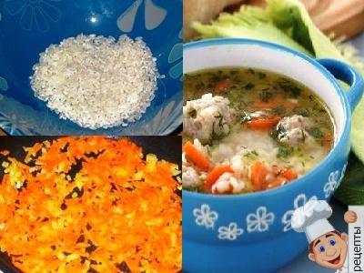 как приготовить суп с фрикадельками из индейки с рисом