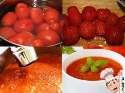 простой рецепт, как приготовить томатный суп пюре