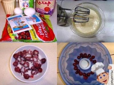 манник с вишней, рецепт вишневого манника