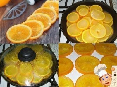 апельсиновые дольки в карамели, карамелизированные дольки апельсина
