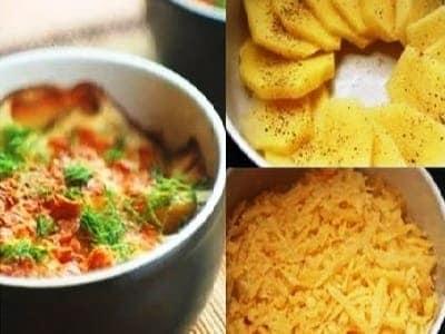 картофель, запеченный со сливками в духовке, рецепт