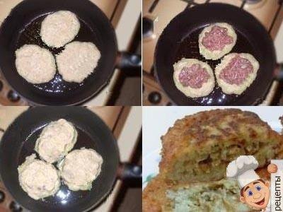 как делать деруны картофельные с мясом