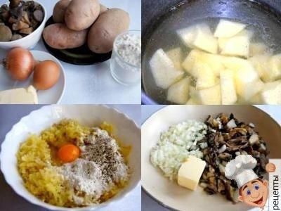 Картофельные котлеты с начинкой. Рецепт с грибами и сыром