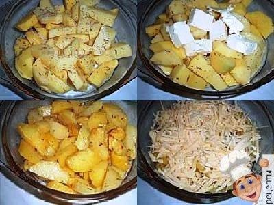 картошка в микроволновкес сыром быстро