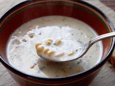 суп пюре из кукурузы и плавленого сыра