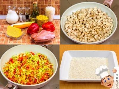 куриная запеканка с овощами в духовке