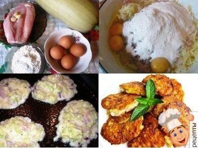 кабачковые оладьи с куриным филе, оладьи из кабачков с куриной грудкой