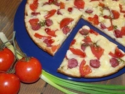 рецепт ленивой пиццы на сковороде