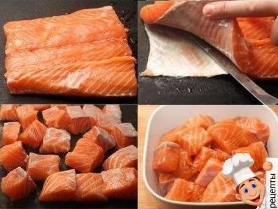 лосось на овощной подушке