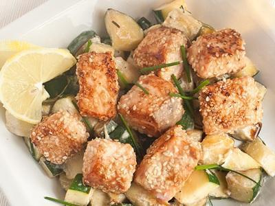 лососьв кунжуте рецепт