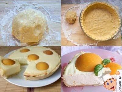 открытый песочный пирог с творогом