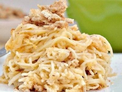 паста с курицей в сырном соусе