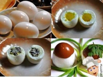 печень трески фаршированные яйца