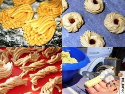 печенье хризантема из мясорубки