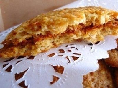 овсяное печенье с медоми сметаной