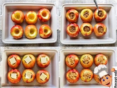 печеные яблоки с изюмом и орехами