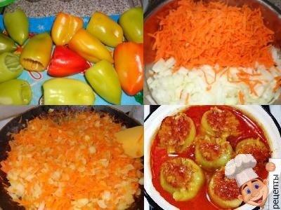 болгарский перец фаршированный морковью