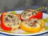 перец фаршированный лодочки, рецепт с грибами, ветчиной, сыром