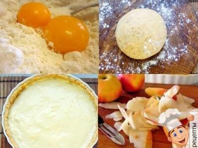 яблочный пирог с розочками. кулинарная идея