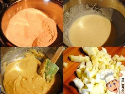 приготовление маффинов с яблоками и корицей
