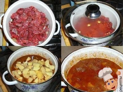 рагу говяжье, рецепт рагу из говядины