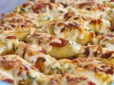рецепт приготовления больших фаршированных макарон ракушек в духовке