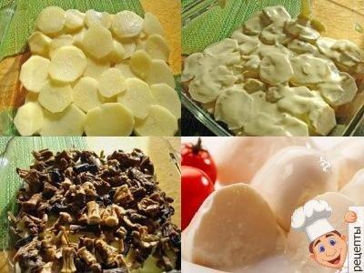 грибная запеканка с картофелем