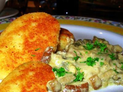 рецепт картофельных котлет из картофеля с грибами
