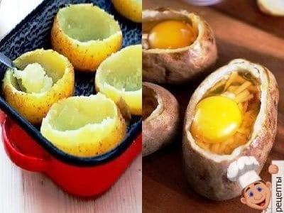 рецепт картошка с яйцом в духовке