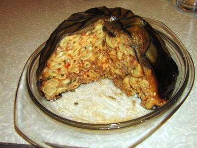 рецепт макарон с баклажанами