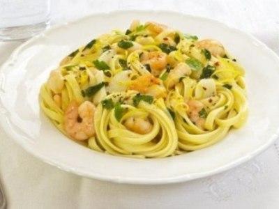 рецепт пасты с креветками