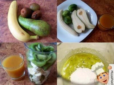 готовим домашний фруктовый коктейль