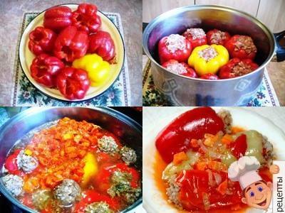 рецепт перец фаршированный мясом в кастрюле