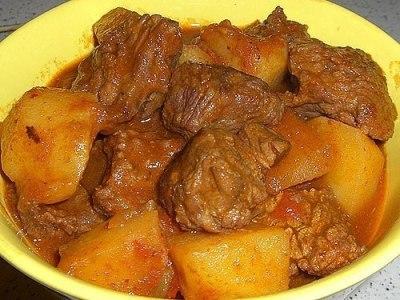 рагу из говядины с картофелем