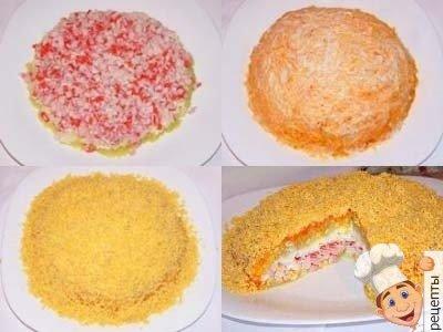 салат из крабовых палочек рецепт