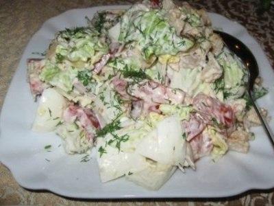 рецепт салата с курицей и пекинской капустой